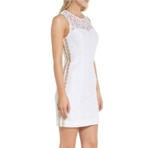 Lilly Pulitzer Mila Shift White Corded Lace Dress